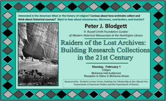 Blodgett Lecture Poster
